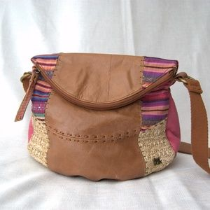 The Sak boho style patchwork leather crossbody bag